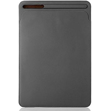 IPad Pro 12.9 Sleeve Case,Portable Elegant Ultra Slim PU Leather Protective Cover Case Bag with Apple Pencil Stylus Slot Holder for Apple IPad Pro 12.9 Inch (Gray 12.9)