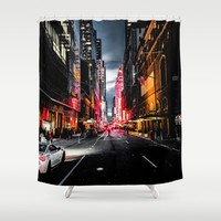 Gotham Shower Curtain by Nicklas Gustafsson