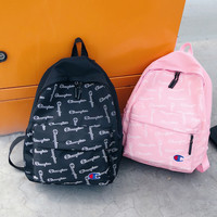 Champion men and women Full print Leisure Backpack