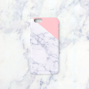 iPhone 6s+ case - Indian pink edge of a marble - iPhone 6, iPhone 6 Plus, iPhone 5s case, Good Luck Gold Sticker, non-glossy hard shell M06