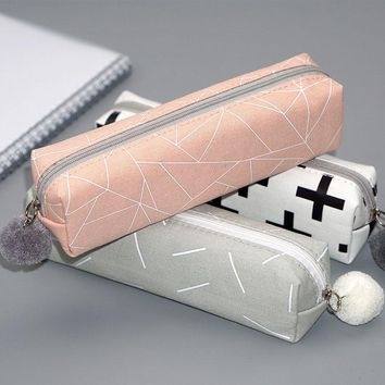 Back to School Pencil Case Concise Solid Color Girls Pencilcase School Bts For Girls Kids New Year Christmas Gifts Party Favors