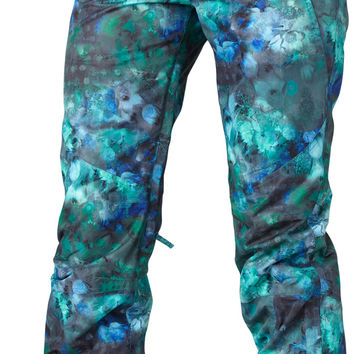 Roxy Torah Bright Refined Womens Snowboard Pants - TB Floral Ocean Depths