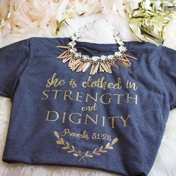 Proverbs 31:25 Triblend Shirt