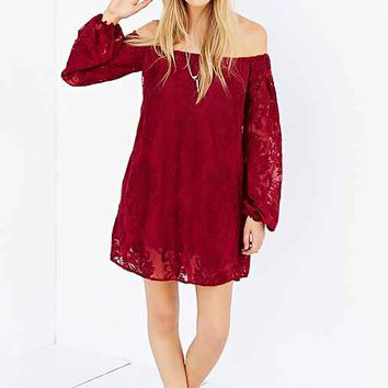 For Love & Lemons Sangria Dress- Maroon