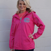 Monogrammed Rain Jacket Personalized Rain Coat Embroidered Jacket