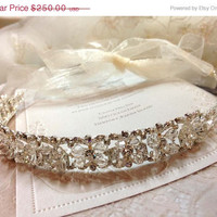 Bridal headband, Austrain Crystal headband, pearl headband, wedding hair accessory, bridal accessory