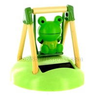 Solar Powered Swinging Lucky Frog