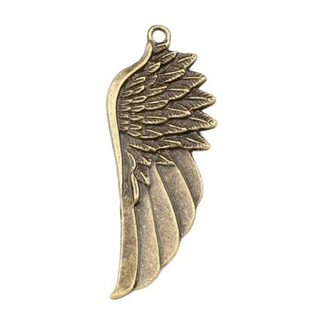20 Pieces Large Angel Wings Charm Cute Feathers Findings Jewelry Pendant Necklaces Making 54 X 22mm
