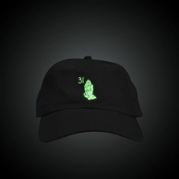 Glow in the Dark Skeleton Drake Hands Dad Hat