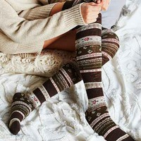 Funky Fair Isle Over-The-Knee Sock