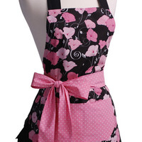 The Midnight Blossom Ladie's Apron