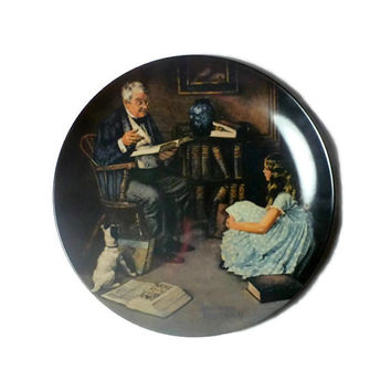 Norman Rockwell 'The Storyteller' 1983 Knowles Limited Edition Collector's Plate