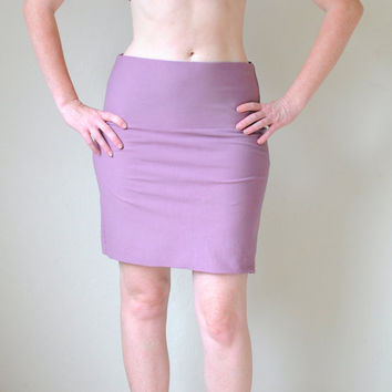 $24.00 Hand Dyed Mini Skirt in Stretch Knit Cotton (Over 20 colors available) XS-XL by SewRed