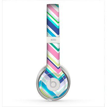 The Vibrant Colored Chevron Pattern V3 Skin for the Beats by Dre Solo 2 Headphones