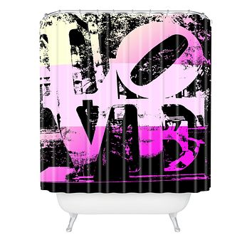 Amy Smith Philadelphia Love Pink Shower Curtain