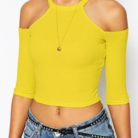 River Island Yasmin Cold Shoulder Crop
