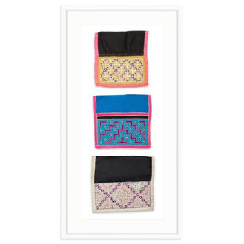 FRAMED AFRICAN TEXTILE TRIO III