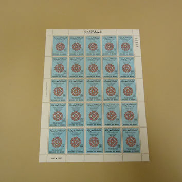Morocco 1987 Royaume Du Maroc Stamp Bicentennial of Friendship USA Sheet of 25 -- New