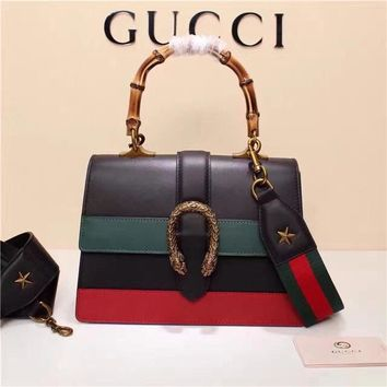 2018 Gucci Dionysus Leather Top Handle Bag