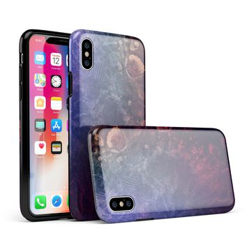 Abstract Fire & Ice V8 - iPhone X Swappable Hybrid Case