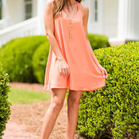 The Sun Kissed Tank Dress, Coral