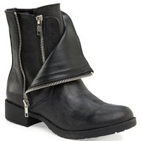 Aeropostale  Mia Layered Moto Boot - Black,