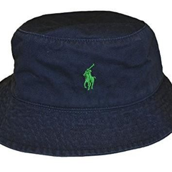 Ralph Lauren Men's Bucket Hat (NAVY/Green Pony)