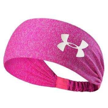 under Armour Sport Crochet Headwrap Headband Warmer Head Hair Band Rose red