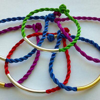 Spring Trend BOLD BRIGHT Twisted Cord Friendship by MYCACouture