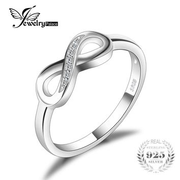 Genuine 925 Sterling Silver Infinity Forever Promise Ring For Women