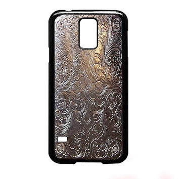 Vintage Cigarette Case Silver Metal for Samsung Galaxy S5 Case *NP*