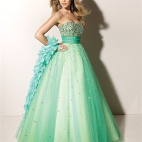 Ball Gown Strapless with Sequins Floor Length Tulle Prom Dress PD1216 Dresses UK