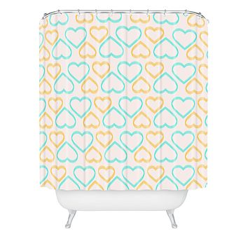 Allyson Johnson Cute Hearts Shower Curtain