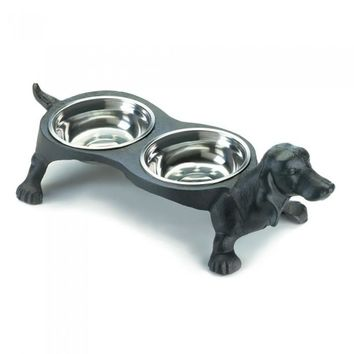 Wiener Dog Food Bowl Set