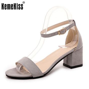 Women High Heel Sandals Sexy Open Toe Shoes Fashion Ankle Strap Shoes Women Square Hee