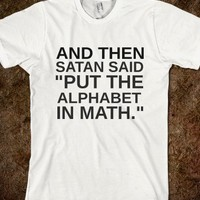 Satan Said Math-white Tshirt-Unisex White T-Shirt