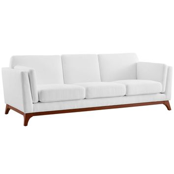 Chance Upholstered Fabric Sofa White EEI-3062-WHI