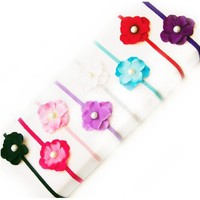 Ema Jane - Pearl Centered Hydrangea Flowers Attached to Stretchy Headbands (8 Pack)