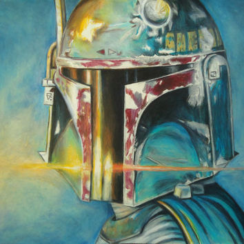 Boba Fett drawing - Original drawing - Colored pencil drawing - Star Wars art - Boba Fett Art - Star Wars gifts - Gifts for him - Artwork