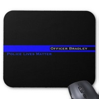 Thin Blue Line Striped Police Lives Matter Support Mouse Pad