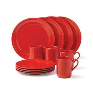kate spade new york All In Good Taste Sculpted Scallop Dinnerware in Red