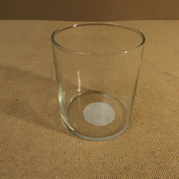 Indiana Glass Drinking Glass Round 3 1/2in Diameter x 4in H Clear 31936 -- Used