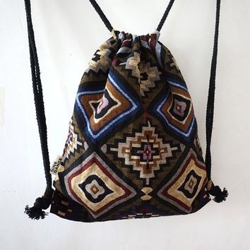 Southwestern Drawstring Backpack