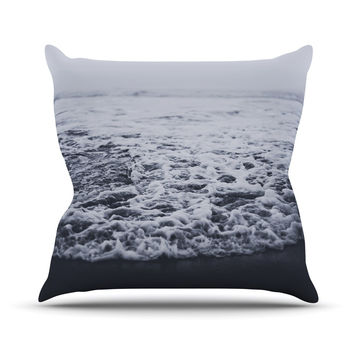 "Leah Flores ""Out to Sea"" Gray Coastal Outdoor Throw Pillow"