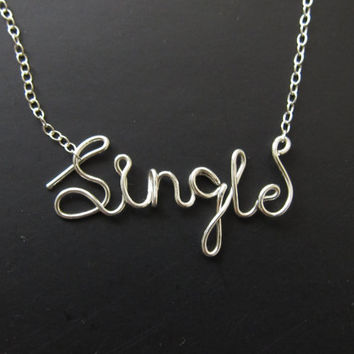 Sterling Silver Single Necklace, Gold Cursive Wire Name Necklace, Personalized Wire Name Necklace, Name Plate Necklace, Valentine's Day Gift