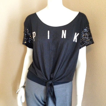 New Victoria's Secret Pink Cropped Tee