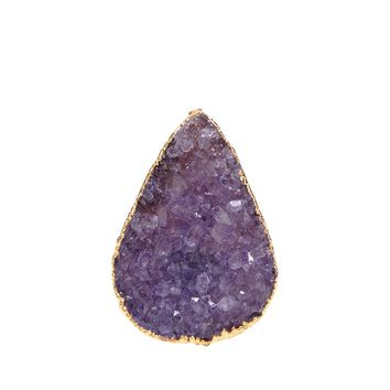 Valerie Nahmani Designs Tear Drop Druzy Ring