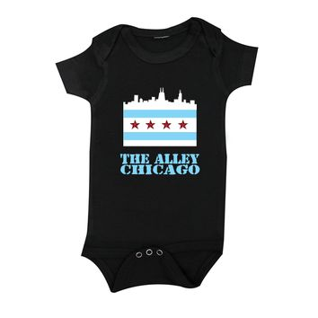The Alley Chicago Flag Skyline Infant Onsie