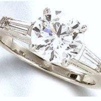 1.75ct Round Diamond Engagement Ring 18kt JEWELFORME BLUE