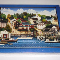 Harbor View Scenic Picture Puzzle 750 Piece Jigsaw Puzzle